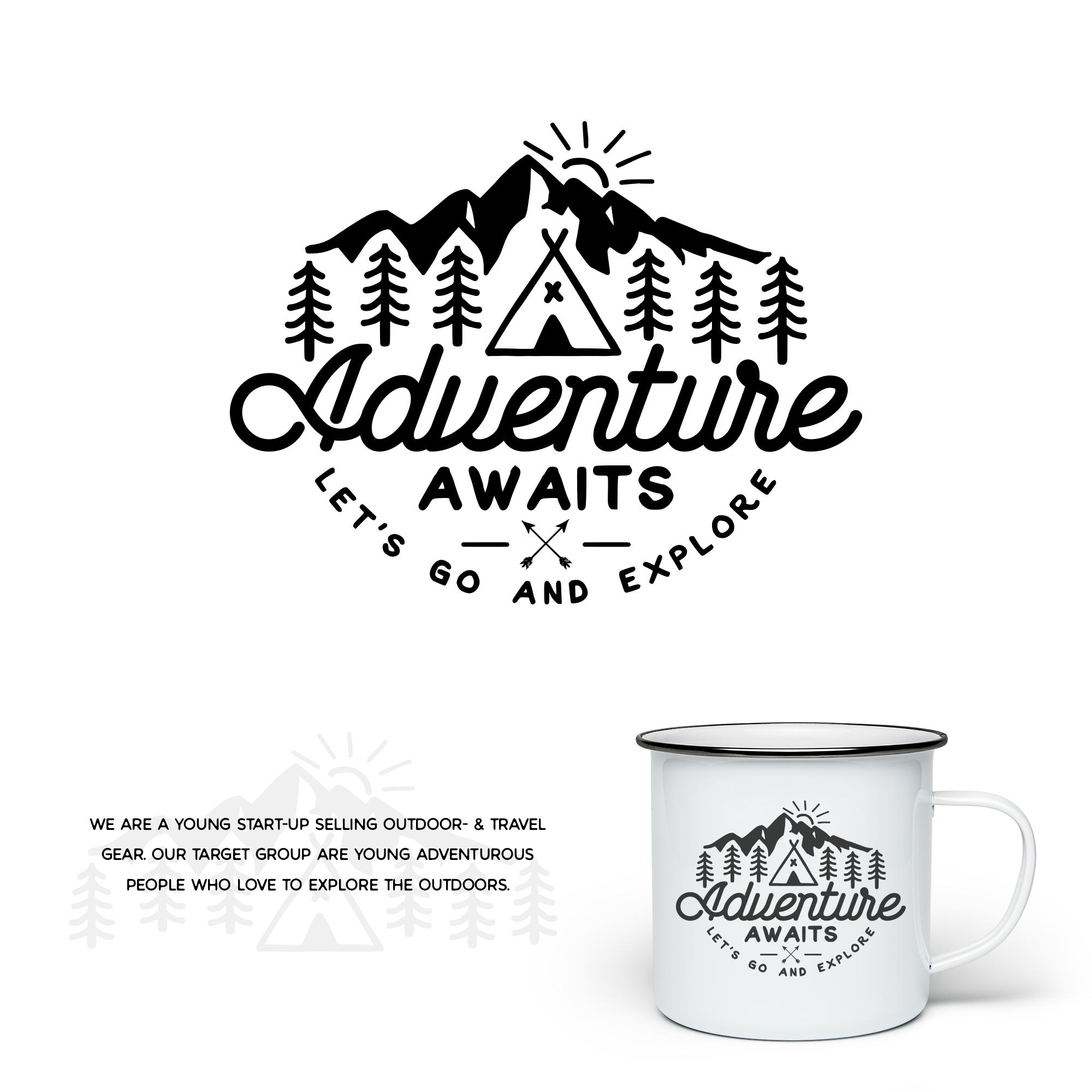 Adventure Awaits mug design