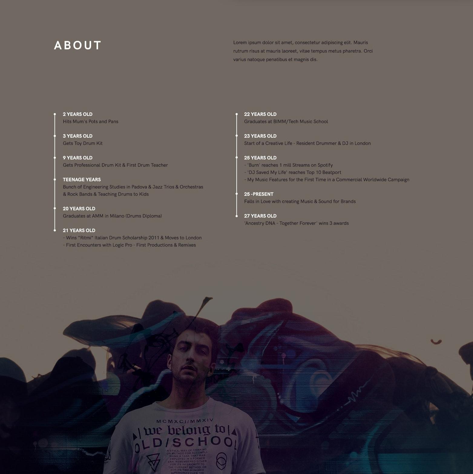 Andrea Saccardo web design