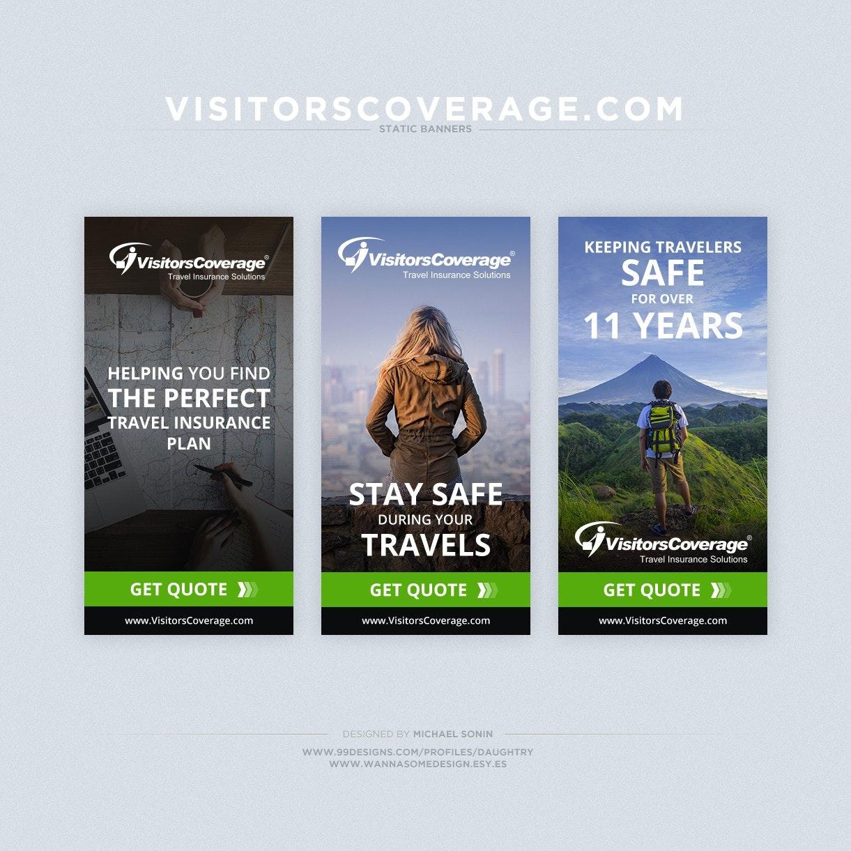 Travel banner ad design