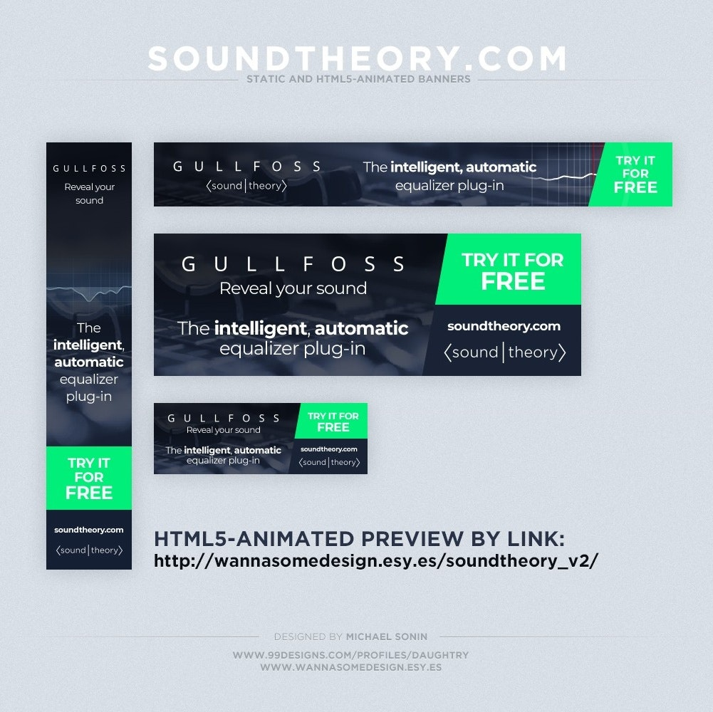 Sound system banner ad design