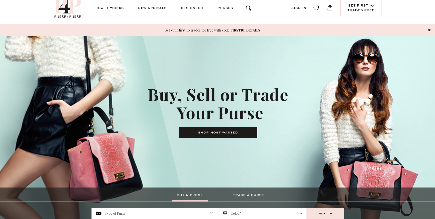 Purse website design