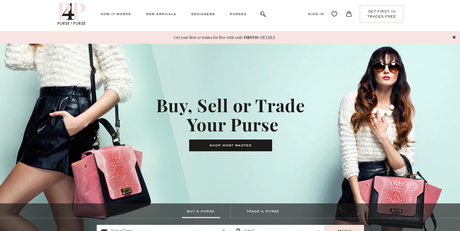 Purse website design