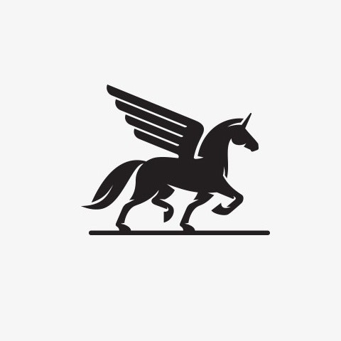 Unicorn-themed logo