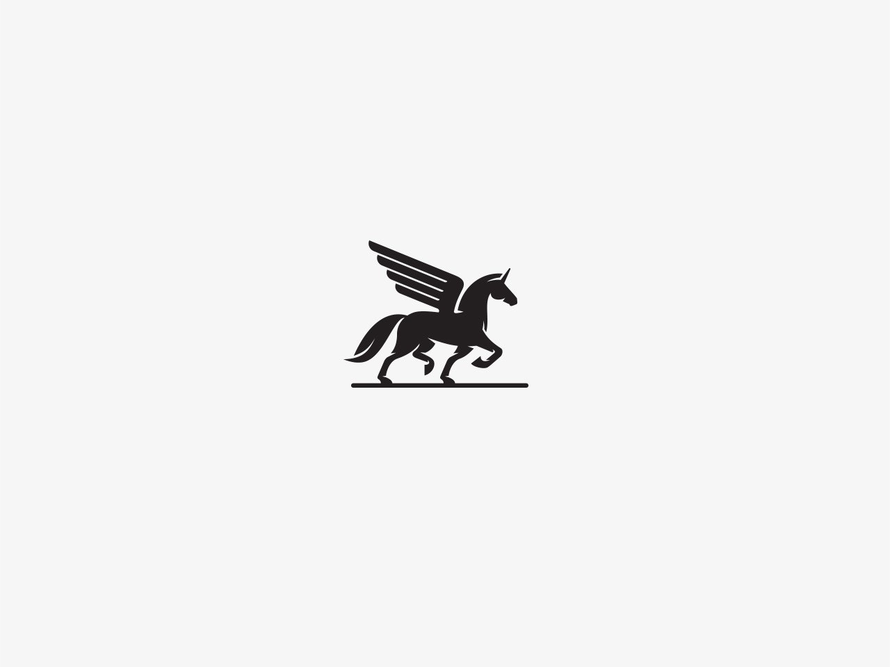 Unicorn-themed logo