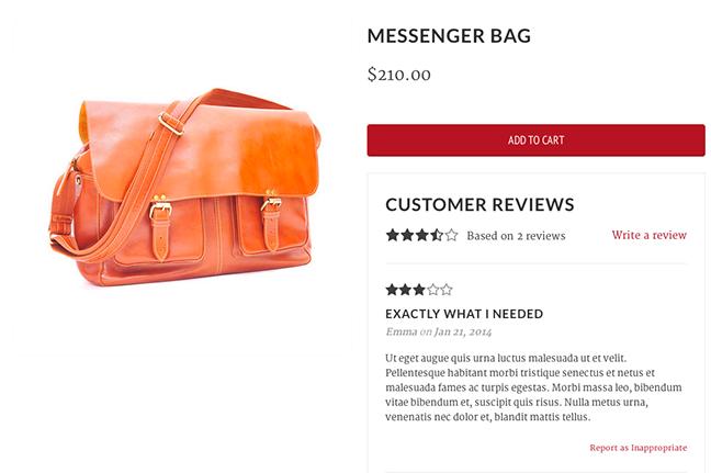Handbag review photo