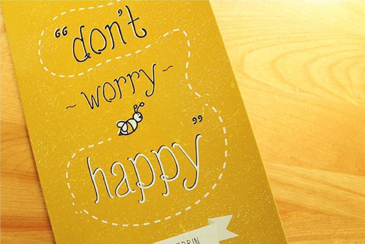 Dont worry bee happy card