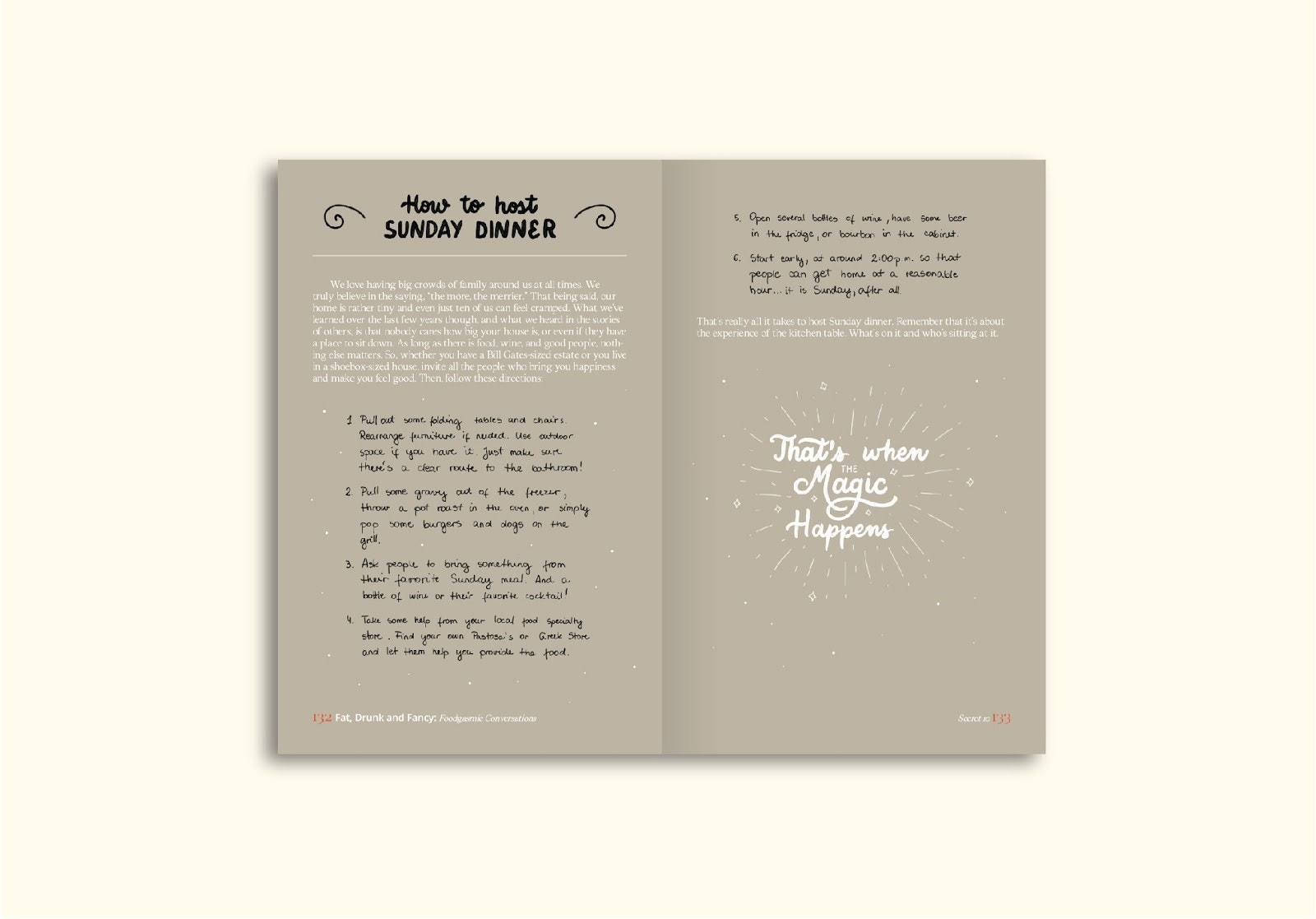 Hand lettered book interior