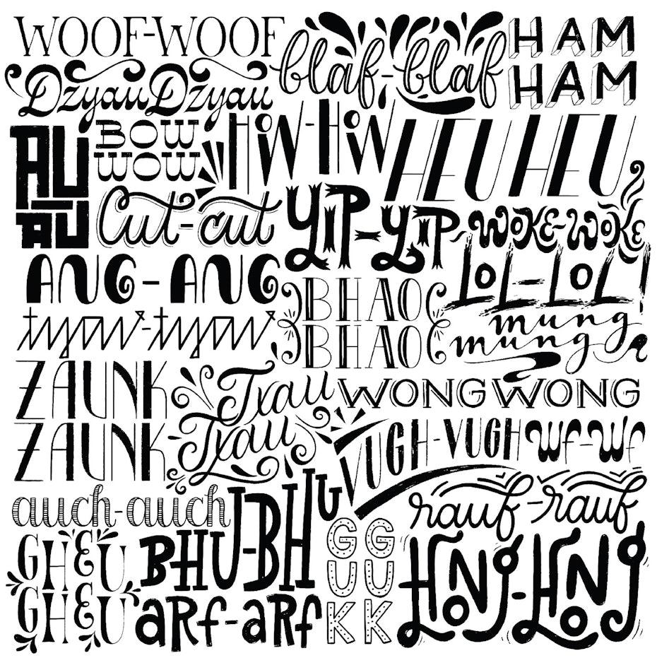 Playful lettering