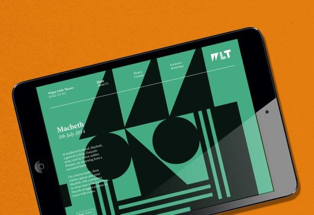 theatre logo variation on tablet