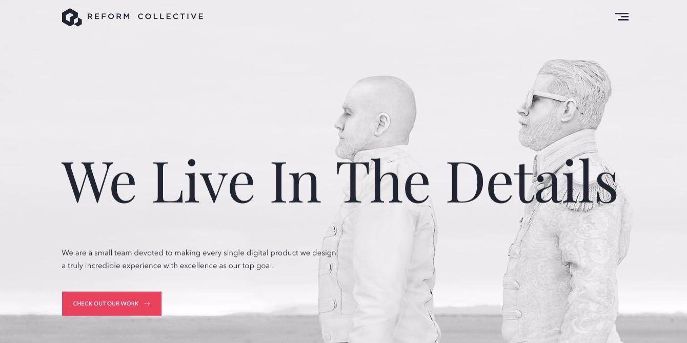 Reform Collective web design