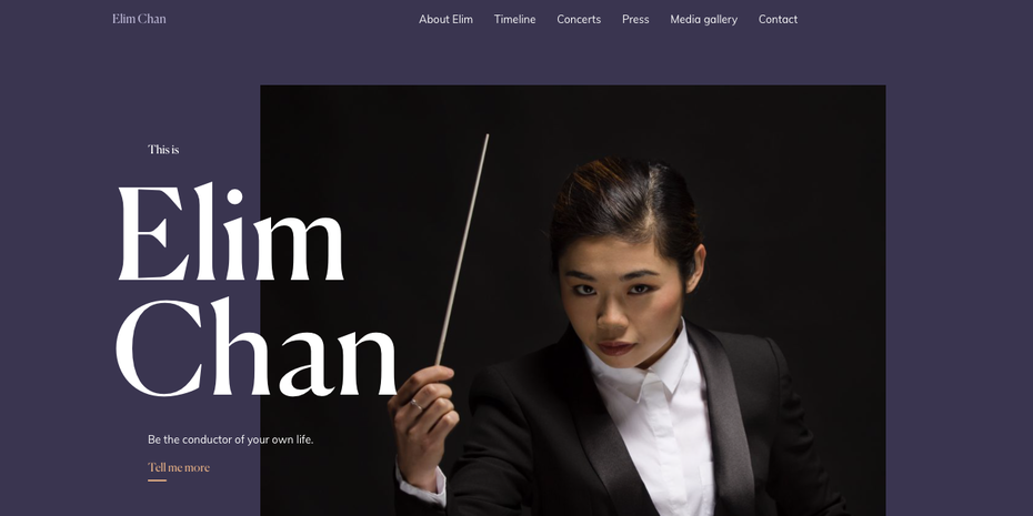 Elim Chan web design
