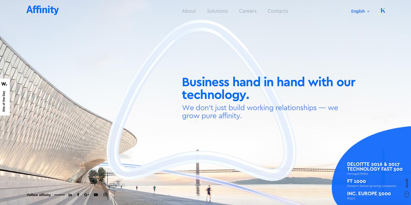 Affinity web design
