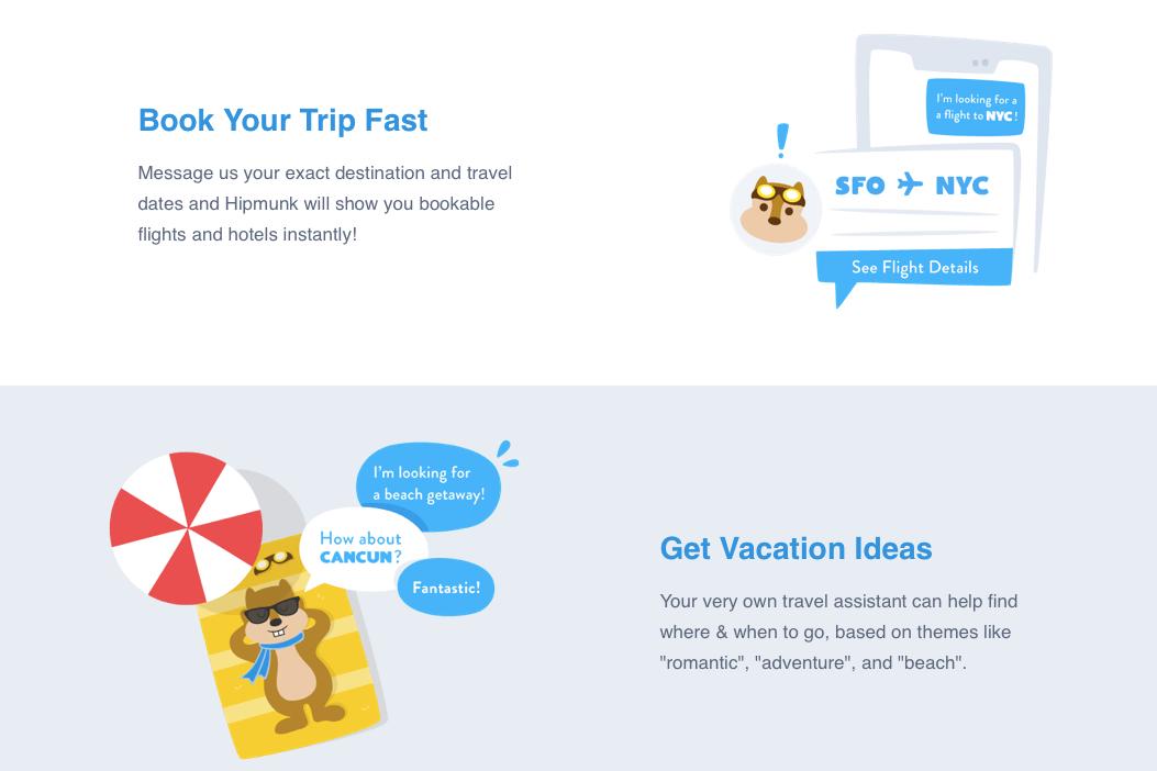 Hipmunk web design