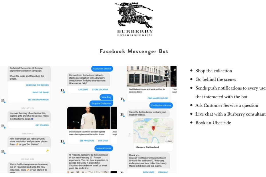 Burberry chat bot