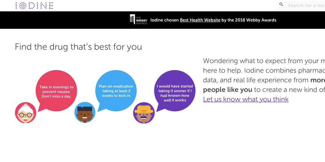 The Webby Awards web design