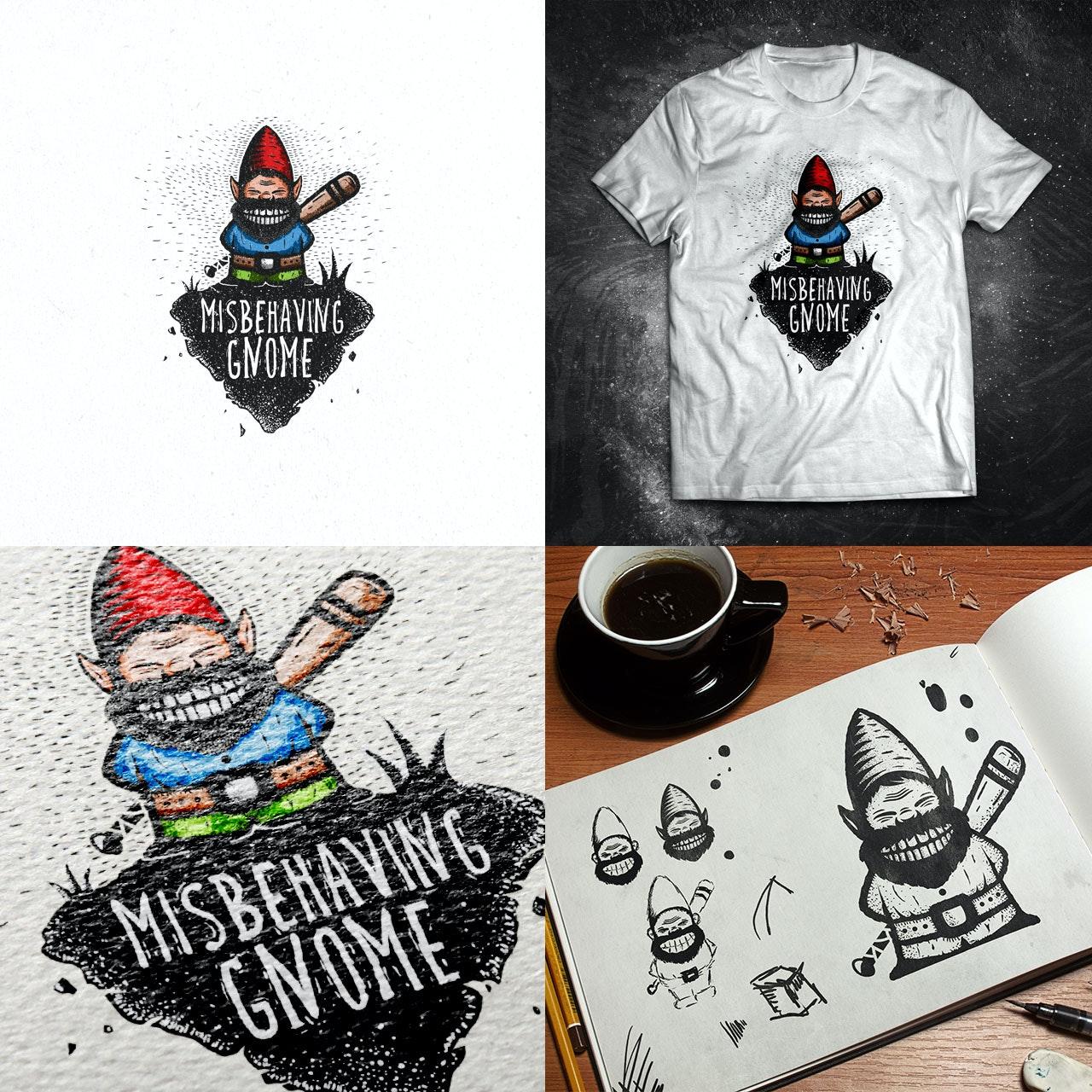misbehaving gnome logo