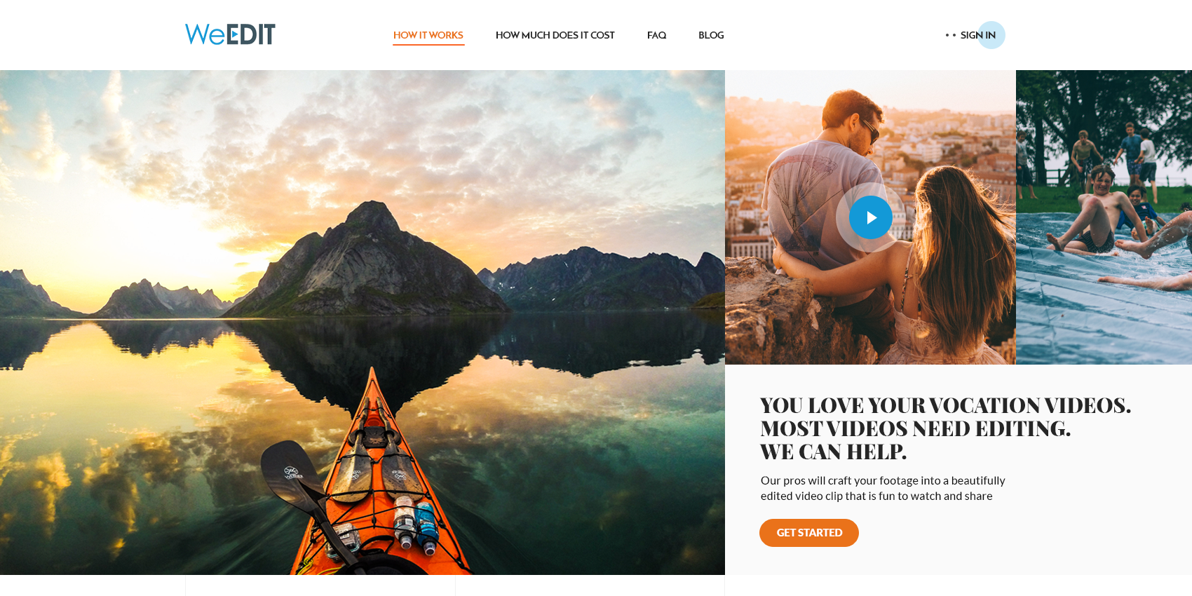 WeEdit web design