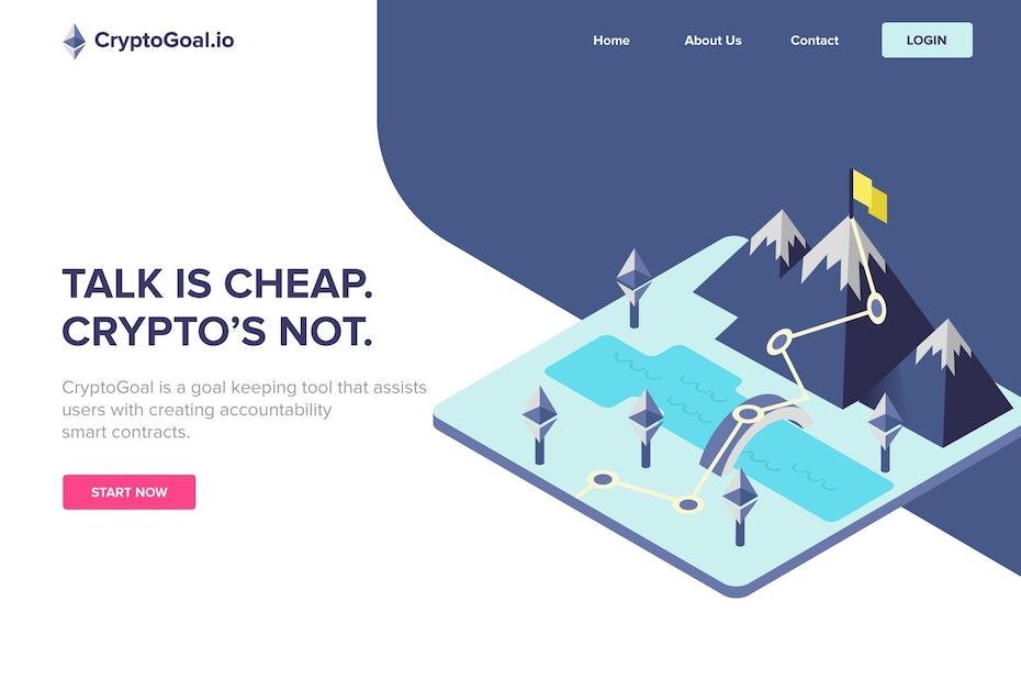 CryptoGoal.io web design