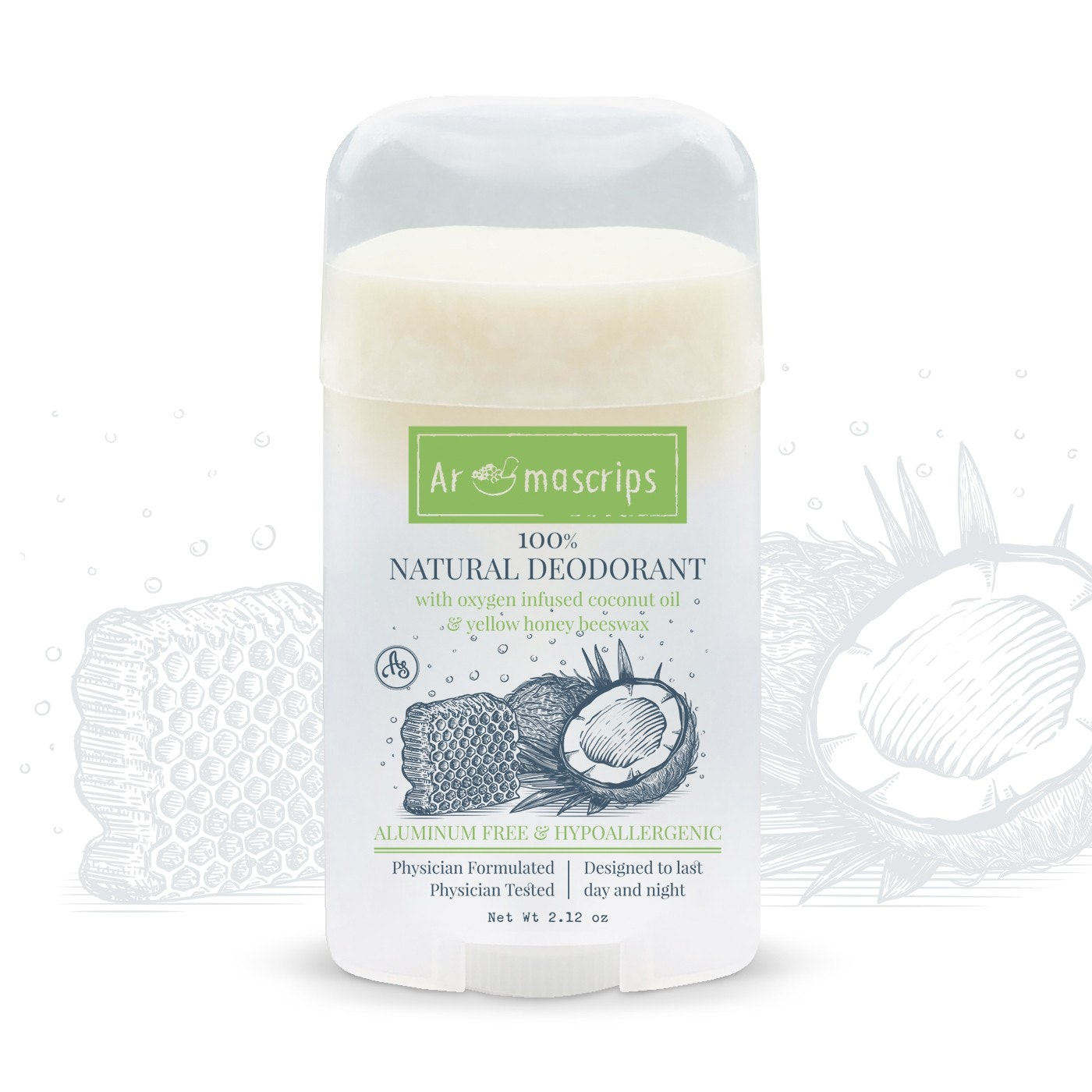 Natural Deodorant packaging
