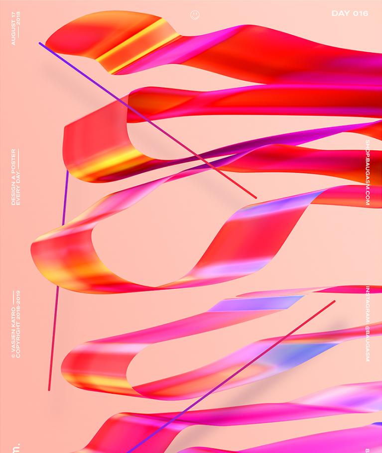 3D poster design