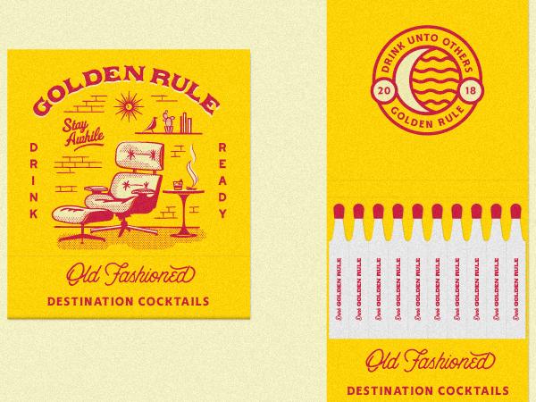 Regla de oro - Antiguos Matchbooks