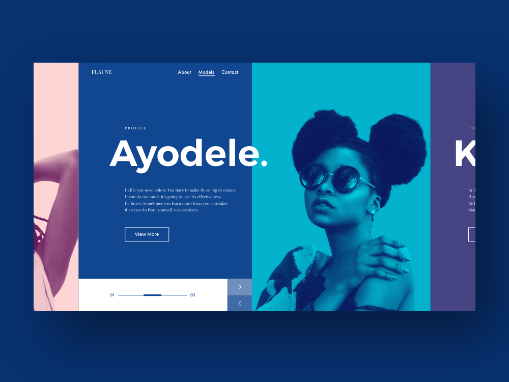 Ayodele modeling website