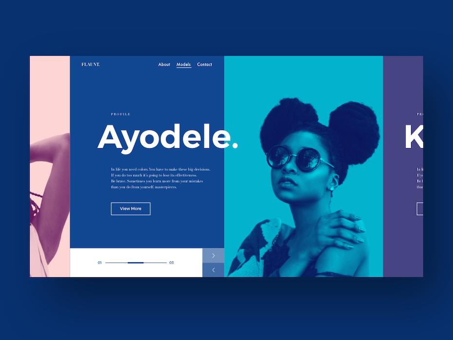 Ayodele modeling website