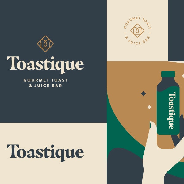 Branding for a toast and juice bar