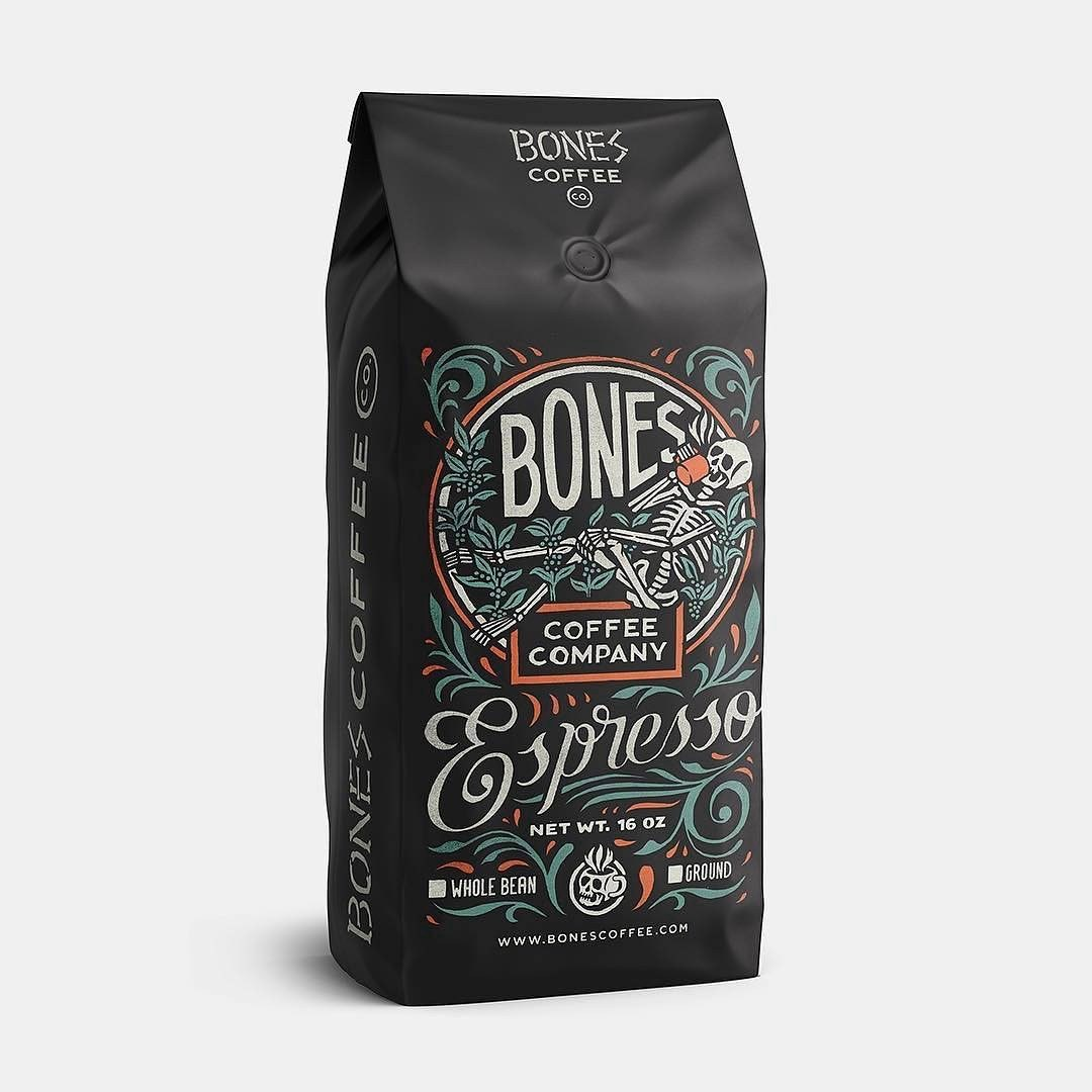 Bones Coffee Company vintage design
