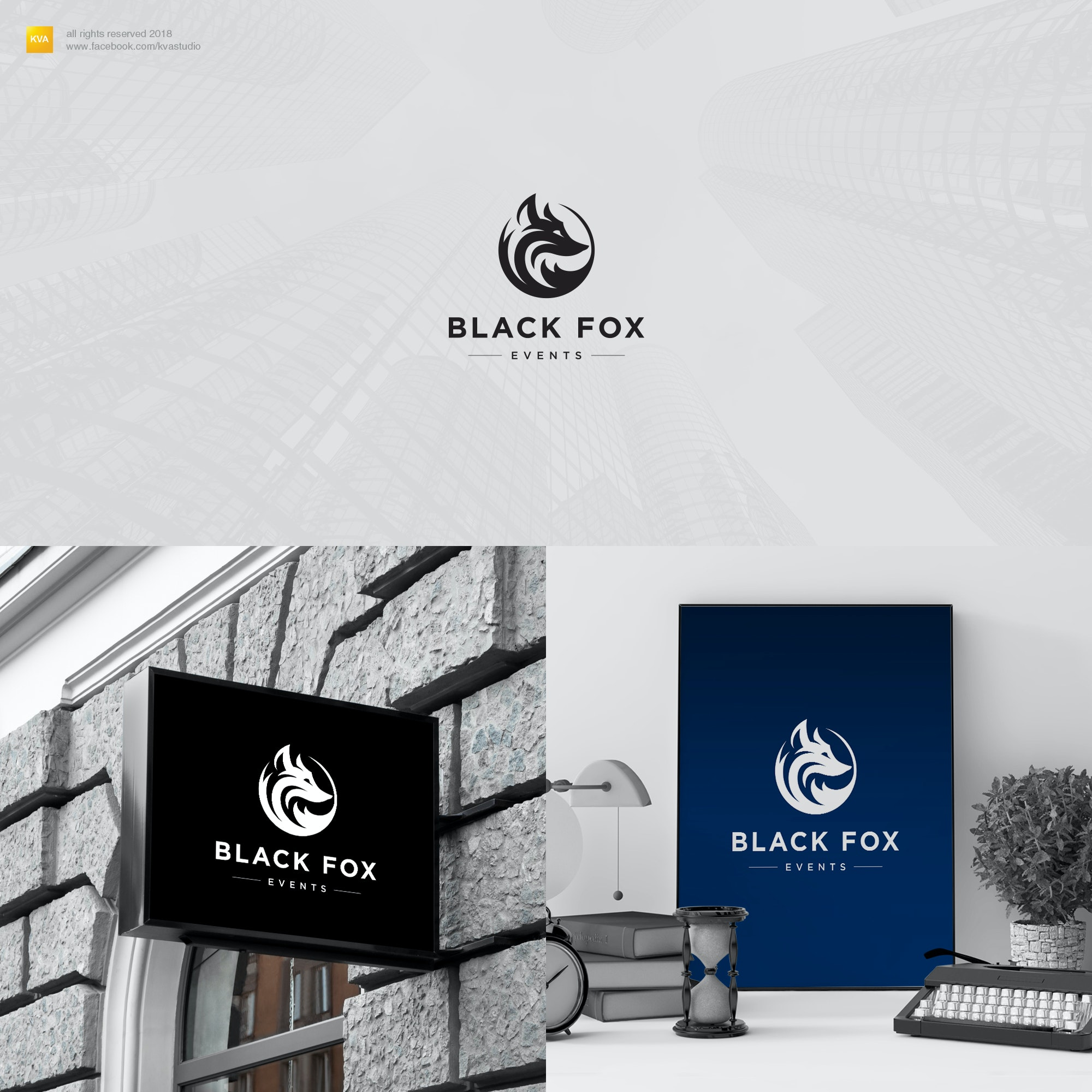 Black Fox Events logo