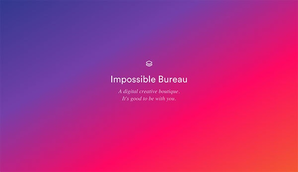 Impossible bureau web design