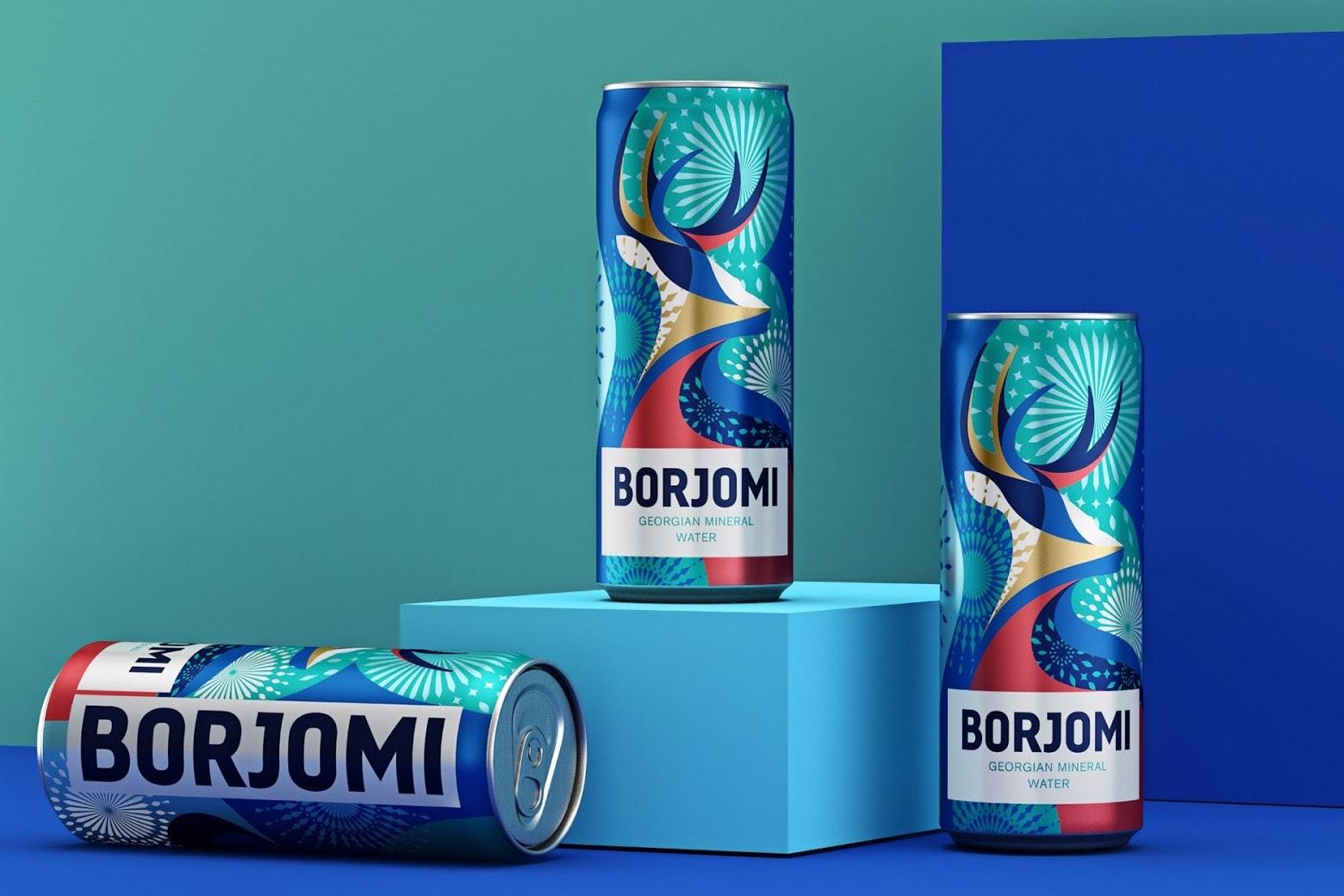 Borjomi Mineral Water pattern design