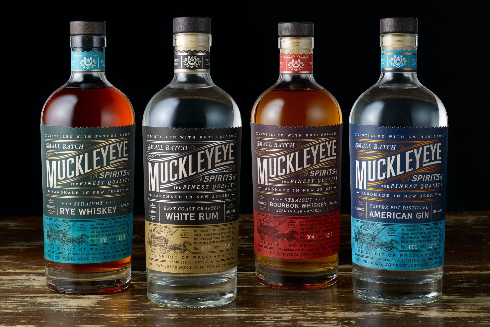 Muckleye vintage liquor design