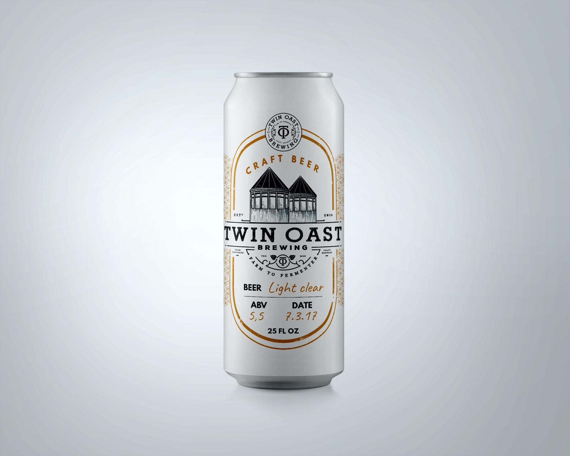 Twin Oast old fashioned beer label