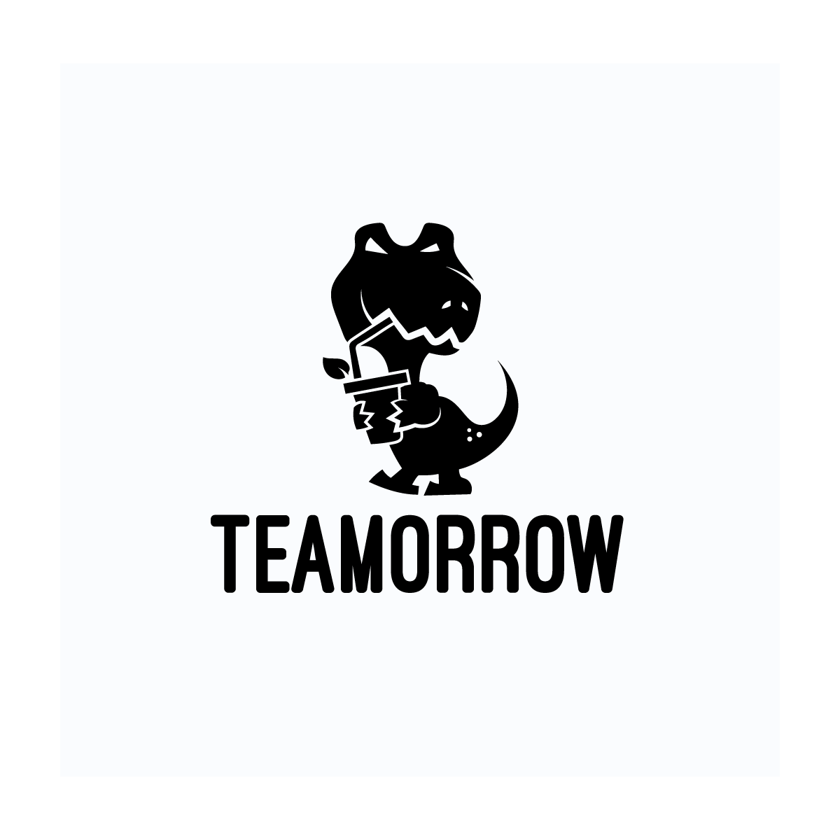 Teamorrow t rex logo