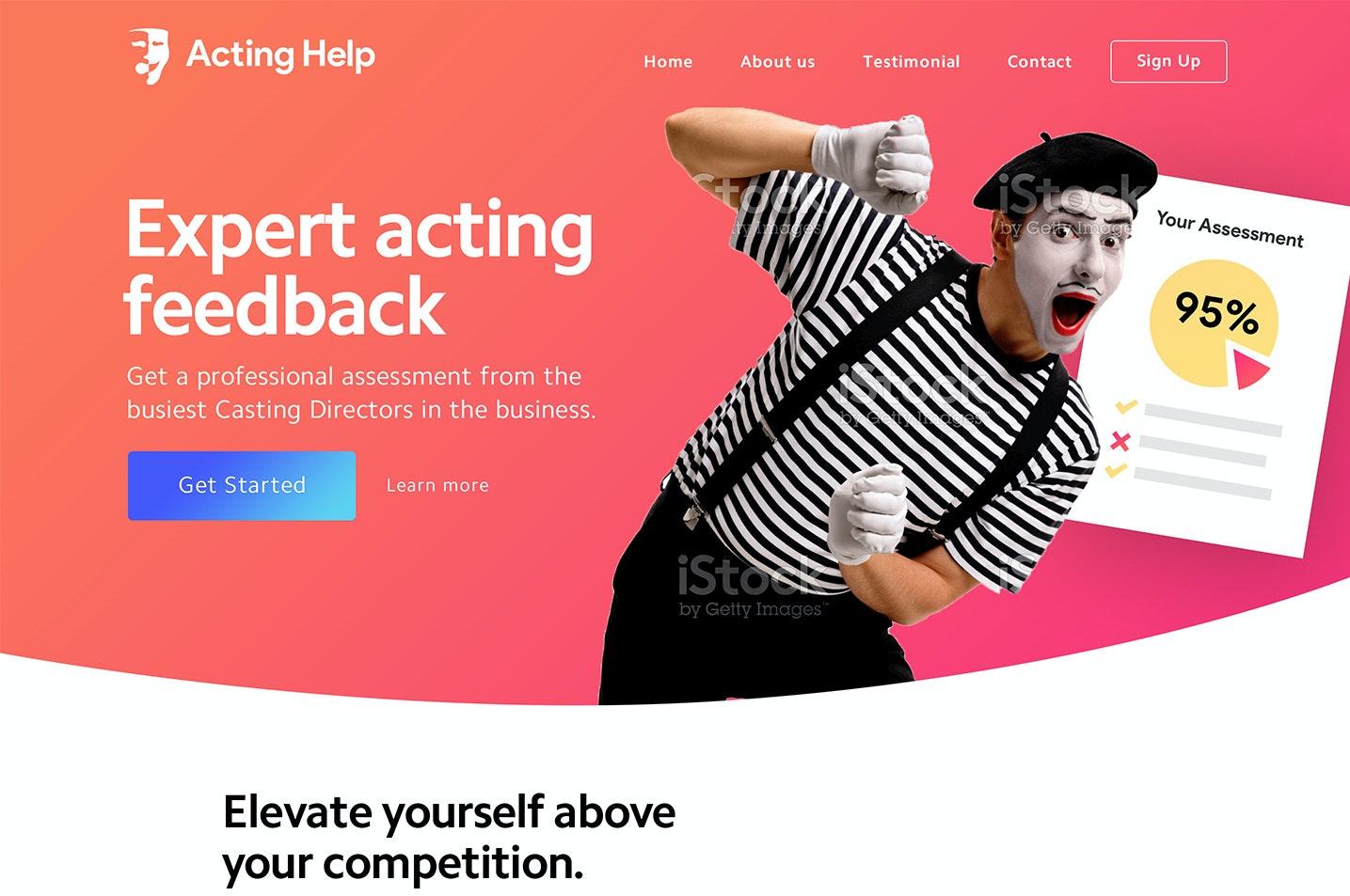Colored web design