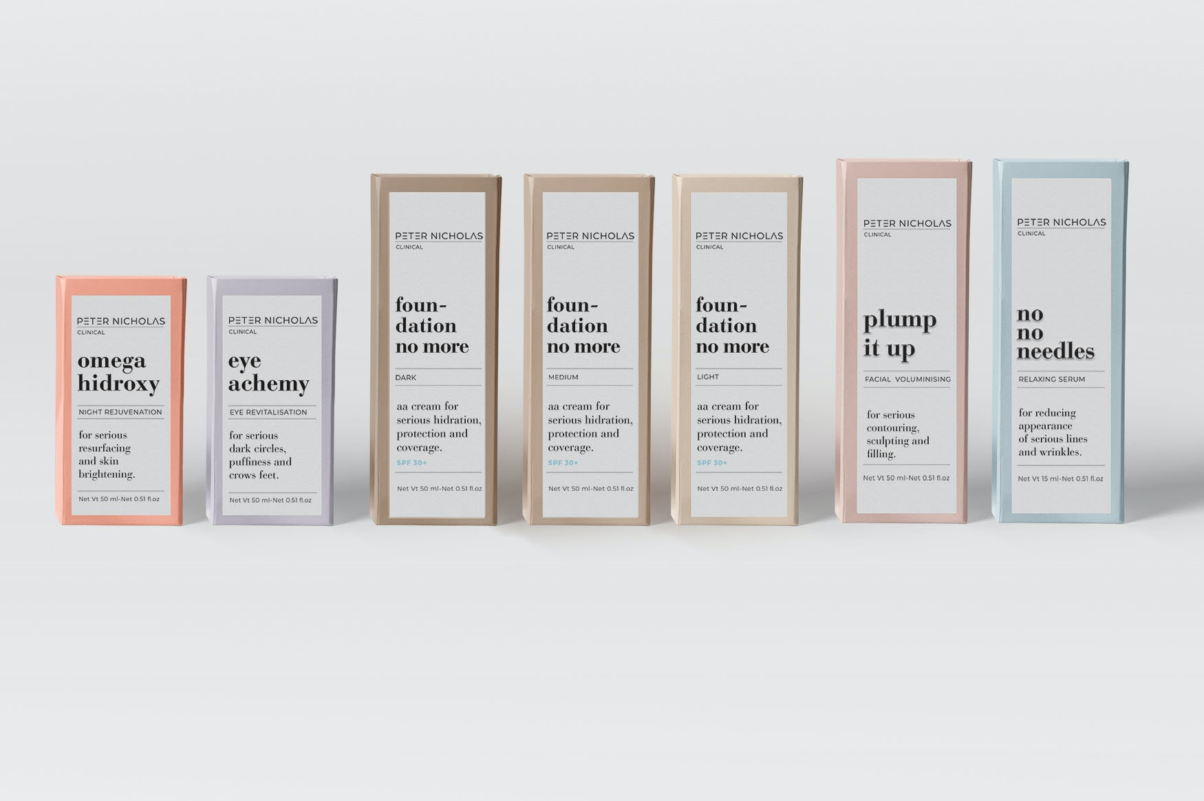 Peter Nicholas pastel packaging