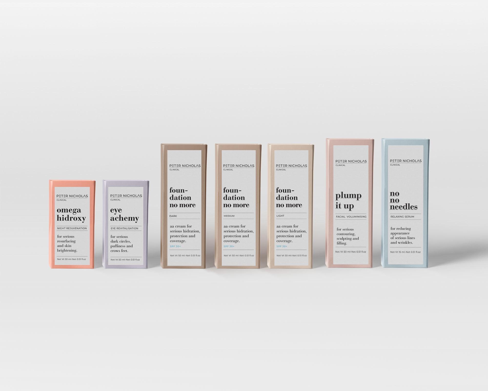 Peter Nicholas pastel packaging