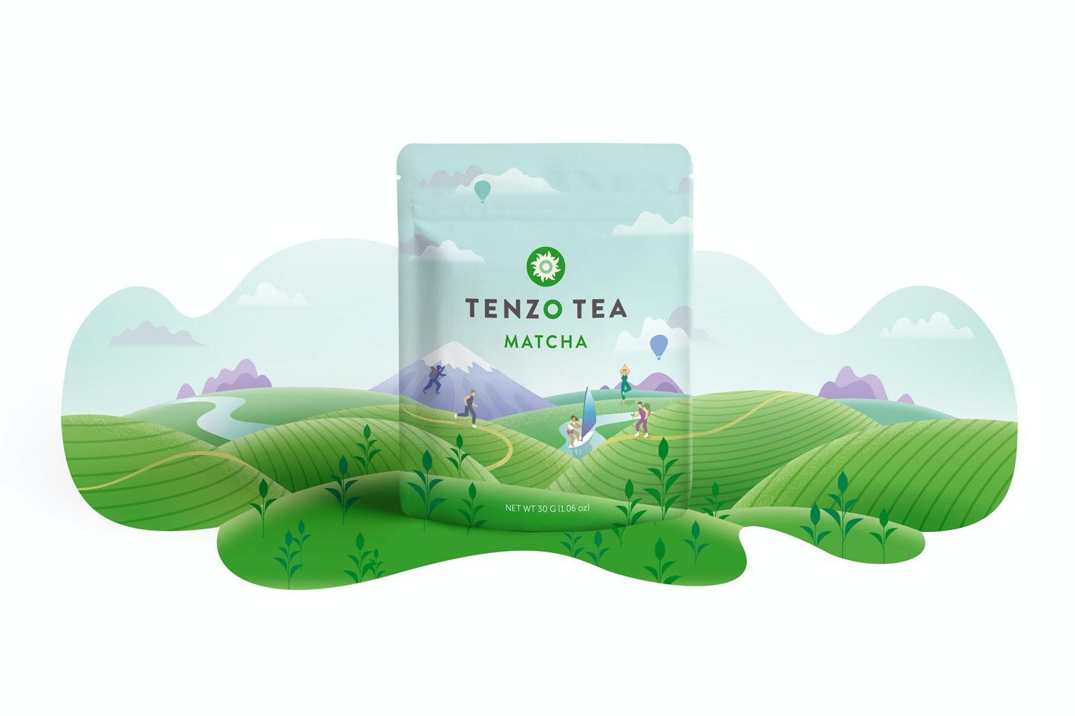 Tenzo Team Matcha nature packaging