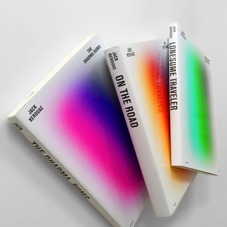 Gradient Jack Kerouac book covers