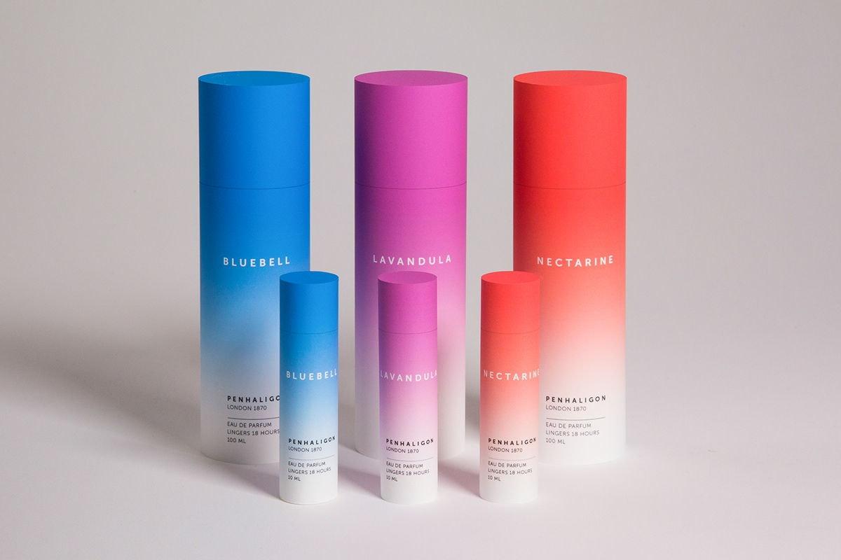 Transition gradient perfume design