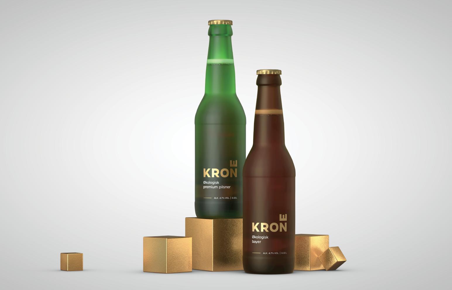 Kron beer bottle design