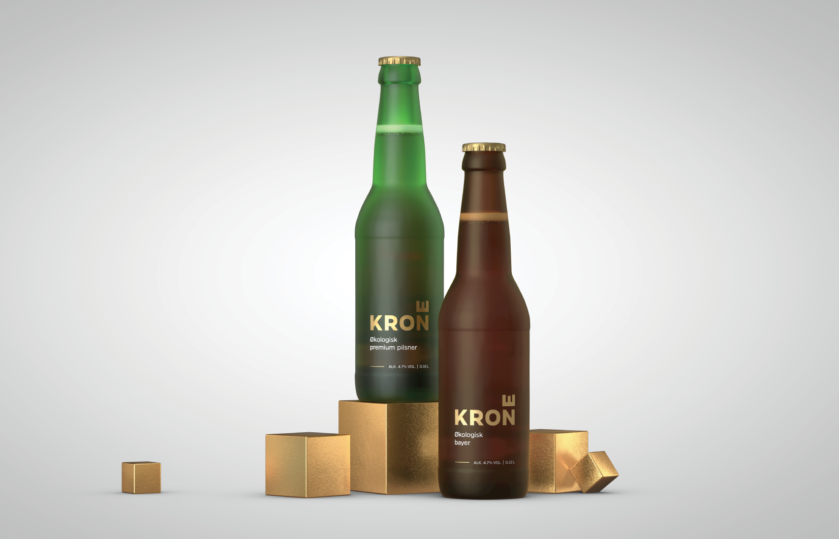 Kron beer bottle design