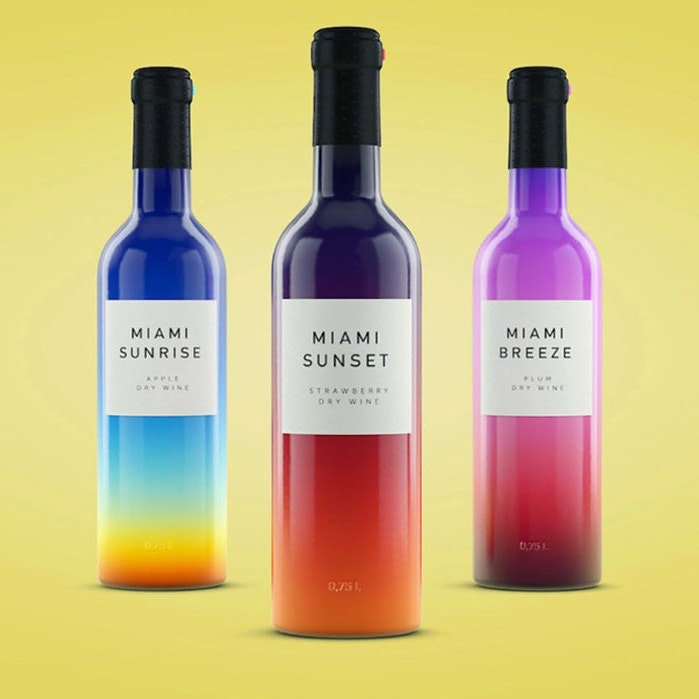 Miami wine bottles