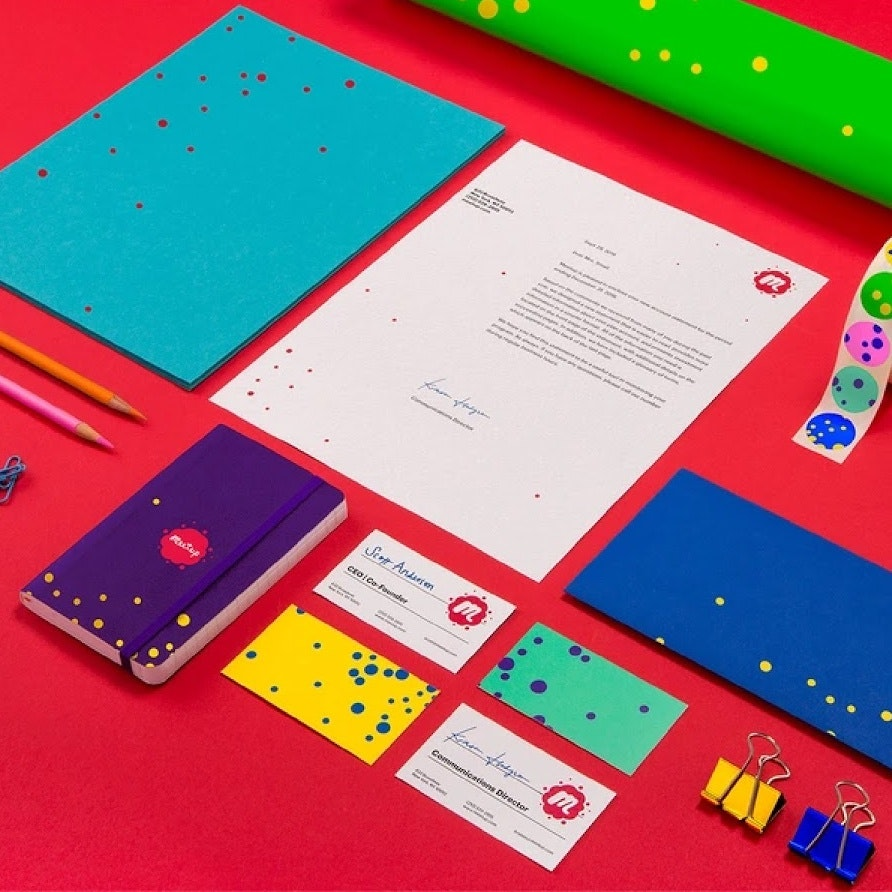 Colorful and bold branding