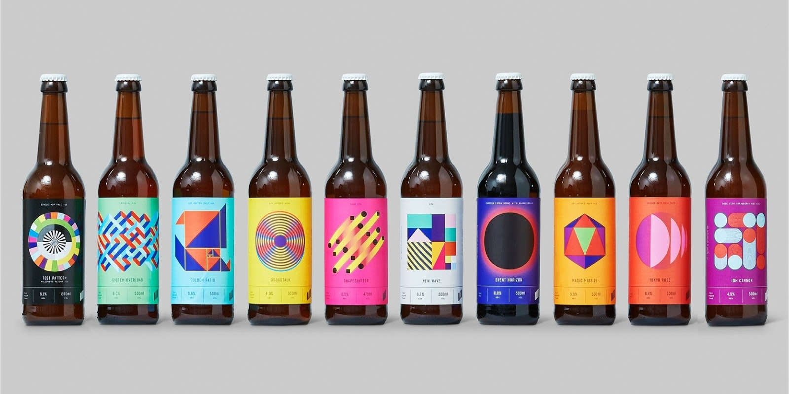 Colorful and experimental branding