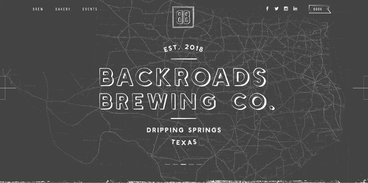 Backroads Brewing Co. web page
