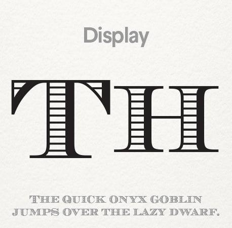 Typography types