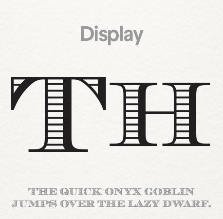 Display font