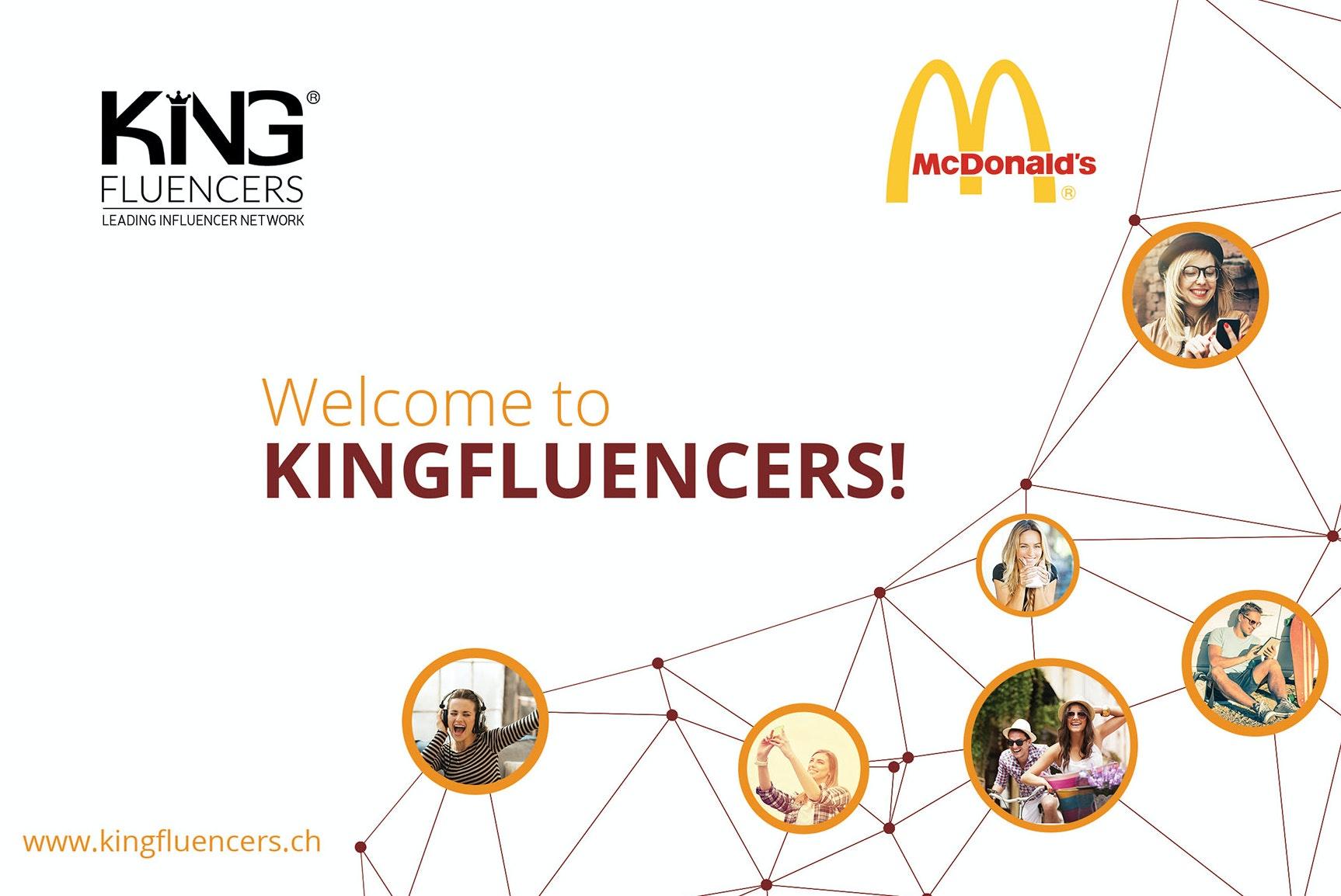 Kingfluencers web page design